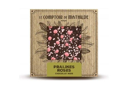 Le Comptoir de Mathilde Tablettes de chocolats Pralines Roses de Lyon 80g 12st