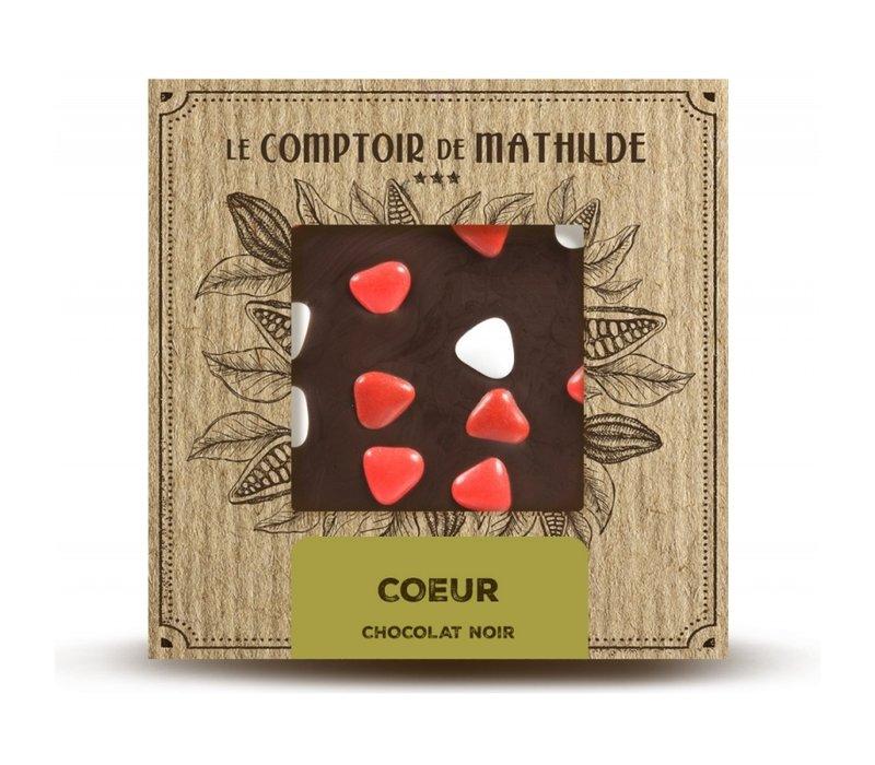 Tablettes de chocolats Tablette en Chocolat Cœur 80g 12st