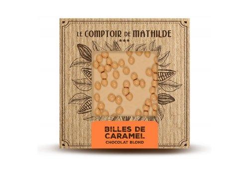 Le Comptoir de Mathilde Tablettes de chocolats Billes Caramel 80g 12st