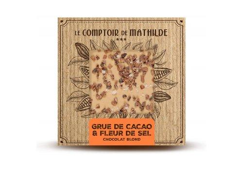 Le Comptoir de Mathilde Tablettes de chocolats Grué et fleur de sel 80g 12st