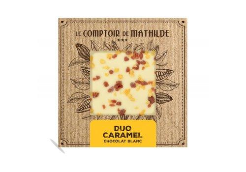 Le Comptoir de Mathilde Tablettes de chocolats Duo caramel 80g 12st