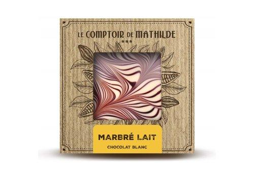 Le Comptoir de Mathilde Tablettes de chocolats Marbré Lait 80g 12st