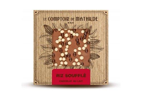 Le Comptoir de Mathilde Tablettes de chocolats Riz Soufflé 80g 12st