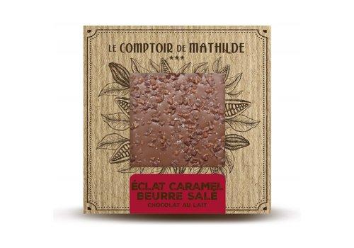 Le Comptoir de Mathilde Tablettes de chocolats Éclats de Caramel au Beurre Salé 80g 12st