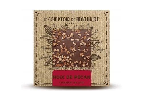 Le Comptoir de Mathilde Tablettes de chocolats Noix de Pécan caramélisées 80g 12st