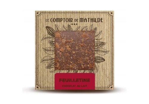 Le Comptoir de Mathilde Tablettes de chocolats Feuilletine 80g 12st