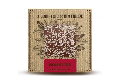 Le Comptoir de Mathilde Tablettes de chocolats Noisettes caramélisées 80g 12st
