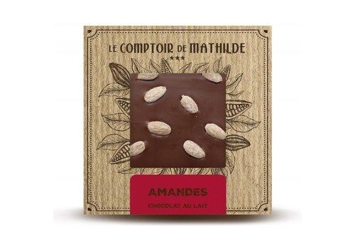 Le Comptoir de Mathilde Tablettes de chocolats Amandes caramélisées 80g 12st