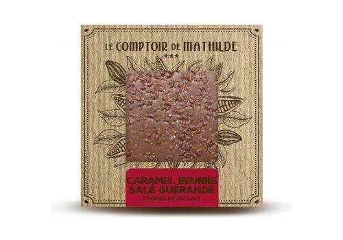 Le Comptoir de Mathilde Tablettes de chocolats Caramel Beurre Salé & Fleur de Sel 80g 12st