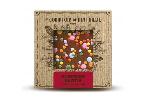 Le Comptoir de Mathilde Tablettes de chocolats Surprise Partie 80g 12st