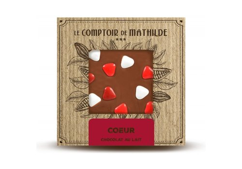 Le Comptoir de Mathilde Tablettes de chocolats Tablette en Chocolat Cœur 80g 12st