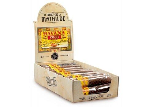 Le Comptoir de Mathilde Cigare en chocolat fourré à la noix de coco 50g 16st