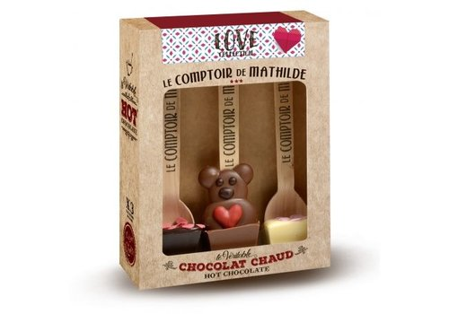 Le Comptoir de Mathilde Hot Chocolate 3 Hot Choc Love Collection 6st