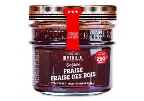 Le Comptoir de Mathilde Confitures Fraise-Fraise des Bois 290g 12st