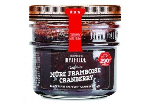 Le Comptoir de Mathilde Confitures Mure-Framboise-Cranberries 290g 12st