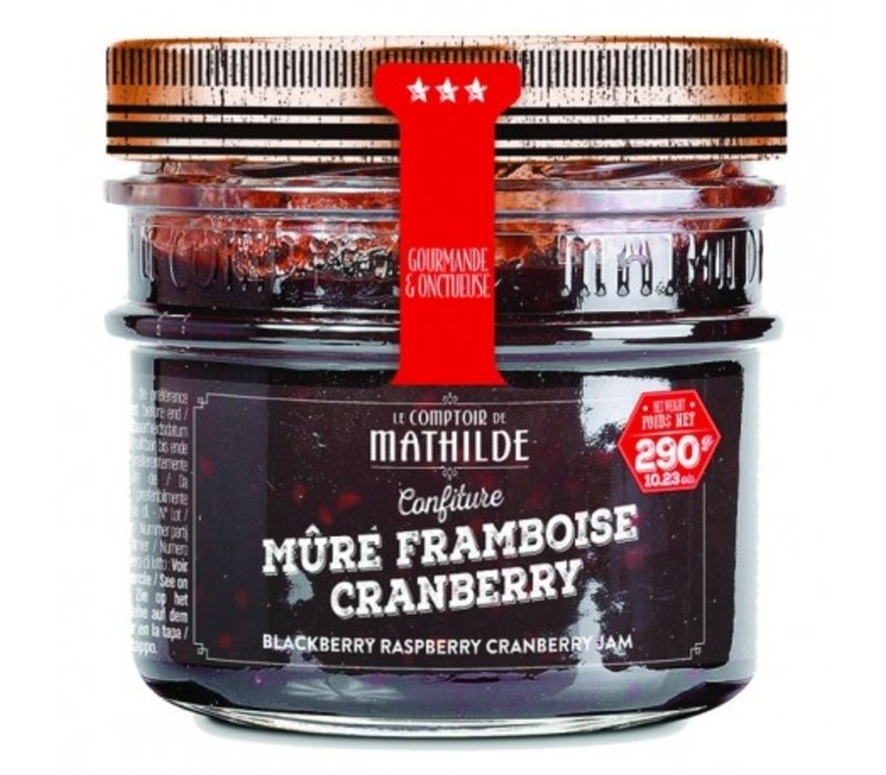 Confitures Mure-Framboise-Cranberries 290g 12st
