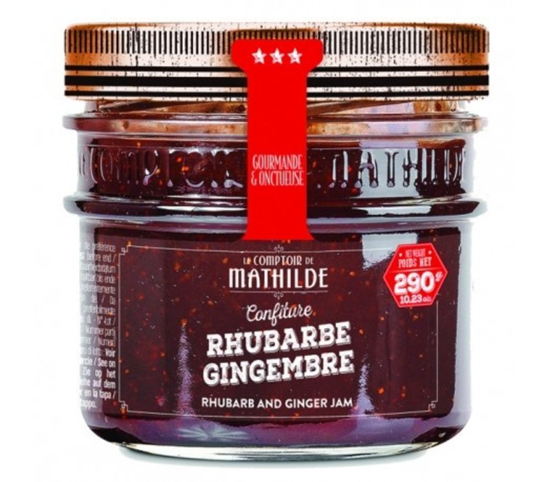 Confitures Rhubarbe gingembre 290g 12st
