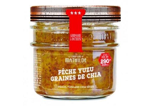 Le Comptoir de Mathilde Confitures Pêche Yuzu graines de chia 290g 12st