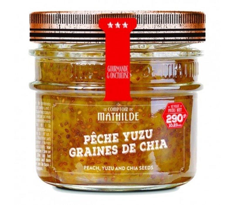 Confitures Pêche Yuzu graines de chia 290g 12st