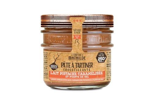 Le Comptoir de Mathilde Pate a tartiner Lait pistache caramélisée pointe de sel 250g 12st