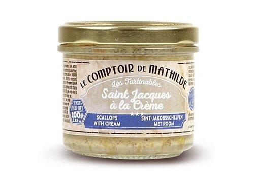 Le Comptoir de Mathilde Tartinables de la mer St jacques crème fraiche 90g 12st