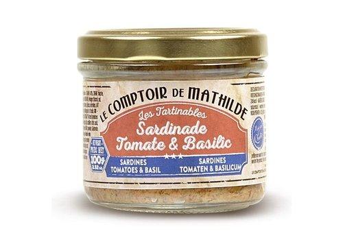 Le Comptoir de Mathilde Tartinables de la mer Sardinade tomate basilic 90g 12st