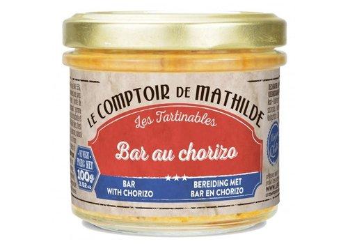 Le Comptoir de Mathilde Tartinables de la mer Bar au chorizo 90g 12st