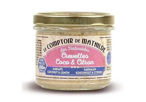 Le Comptoir de Mathilde Tartinables de la mer Crevettes coco citron 90g 12st