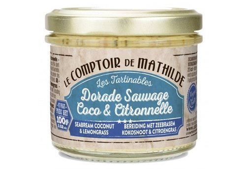 Le Comptoir de Mathilde Tartinables de la mer Dorade sauvage et coco citronnelle 90g 12st