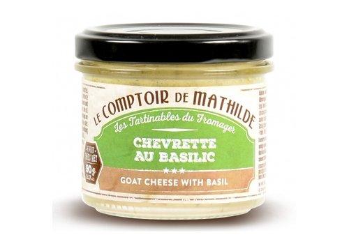 Le Comptoir de Mathilde Chevrette au Basilic (Mousse de Chèvre) 90g 12st
