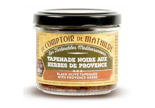 Le Comptoir de Mathilde Tapenade Noire aux Herbes de Provence 90g 12st