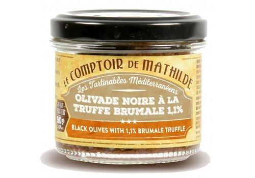 Le Comptoir de Mathilde Olivade Noire Aromatisée à la Truffe 90g 12st