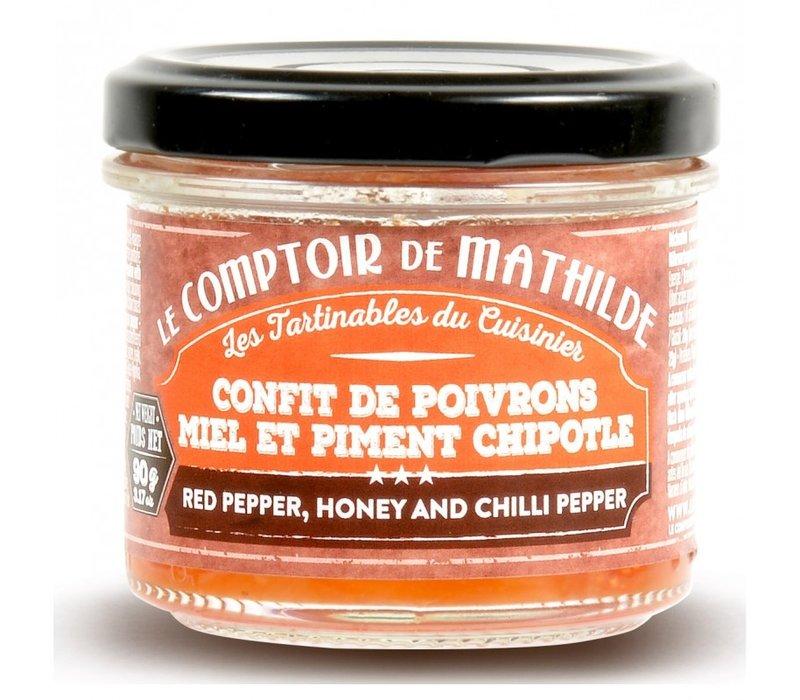Confit de Poivrons au Miel et piment chipotle 90g 12st