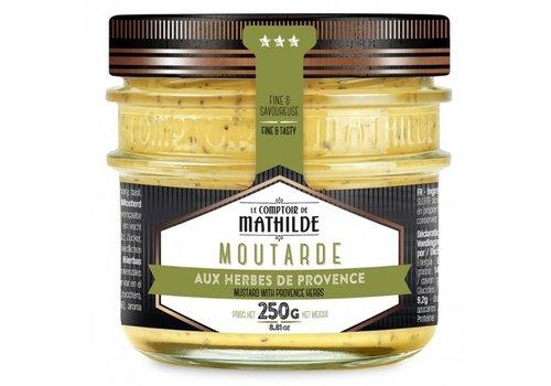 Le Comptoir de Mathilde Moutarde aux Herbes de Provence 250g 12st