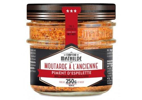 Le Comptoir de Mathilde Moutarde à l'Ancienne - Piment Espelette AOC 250g 12st