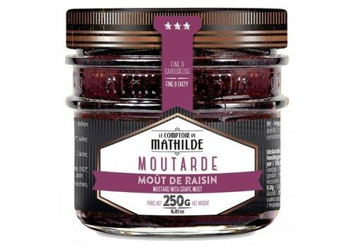 Le Comptoir de Mathilde Moutarde au mout de raisin 250g 12st