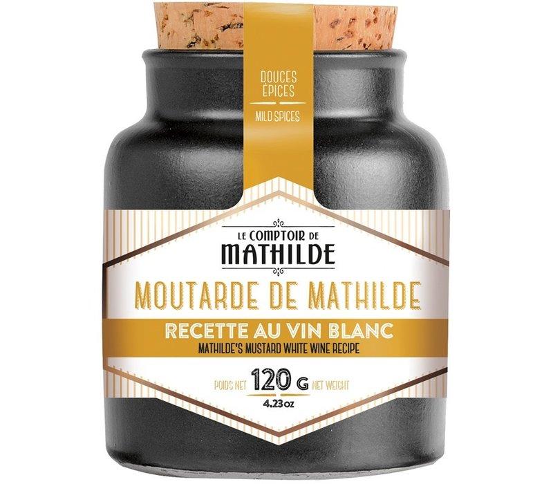 Moutarde de mathilde recette au vin blanc 120g 12st