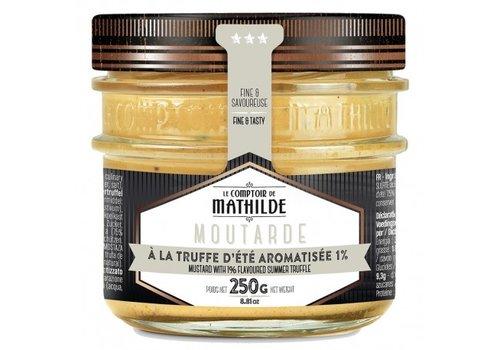 Le Comptoir de Mathilde Moutarde à la truffe d'été aromatisée 250g 12st