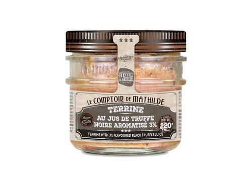 Le Comptoir de Mathilde Terrine au jus de truffes noires aromatisé 3% 170g 12st