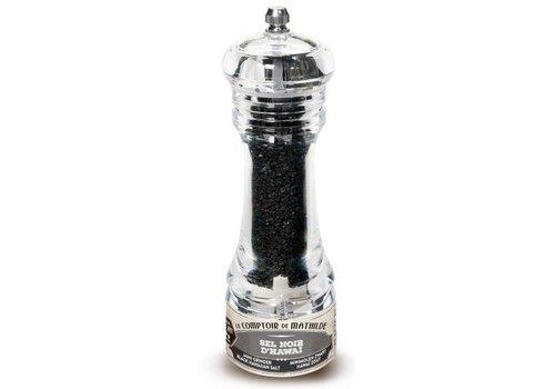 Le Comptoir de Mathilde Mini-moulins sel du monde Noir Hawaï 50g 12st