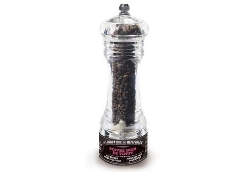 Le Comptoir de Mathilde Mini-moulins poivre du monde Poivre de Timut Népal 10g 12st