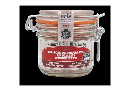 Le Comptoir de Mathilde Sel au Piment Espelette A,O,C 250g 12st
