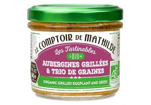 Le Comptoir de Mathilde Aubergines grillees et graines bio 90g 12st