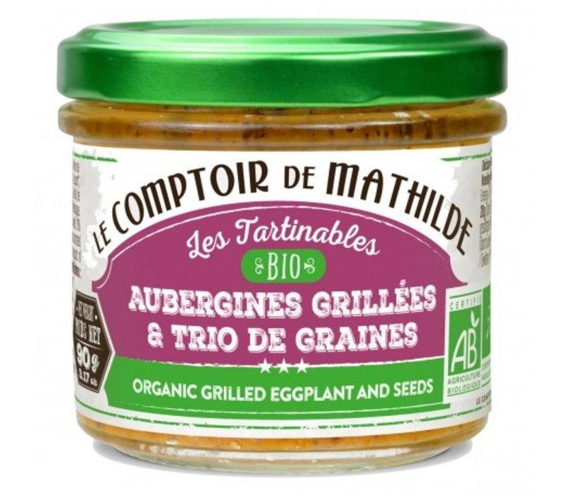 Aubergines grillees et graines bio 90g 12st