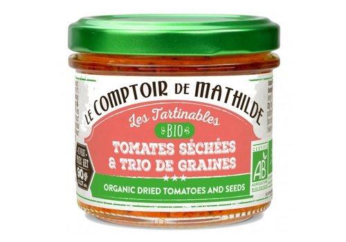 Le Comptoir de Mathilde Tomates sechees et trio graines bio 90g 12st