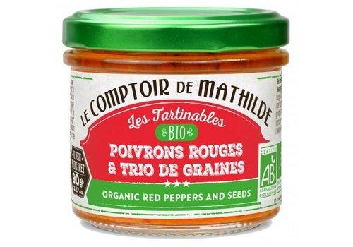 Le Comptoir de Mathilde Poivrons rouges et trio de graines bio 90g 12st