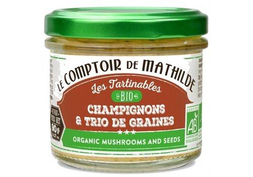 Le Comptoir de Mathilde Champignons et trio de graines bio 90g 12st