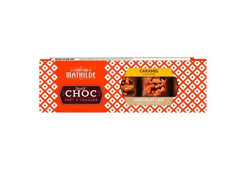 Le Comptoir de Mathilde Snack Choc prêt à croquer Lait caramel 40g 16st