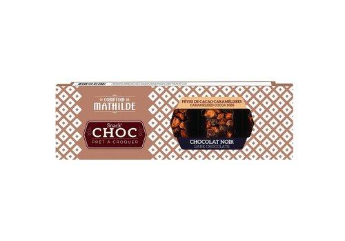 Le Comptoir de Mathilde Snack Choc Noir grue caramelise 40g 16st