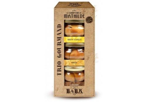 Le Comptoir de Mathilde Babas Trio Gourmand 12% 110ml Rhum, Rhum vanille, Rhum caramel 6st